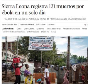 Muertos ebola